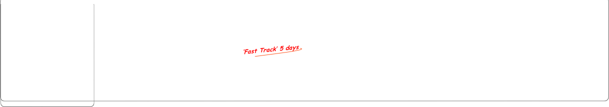 'Fast Track' 5 days